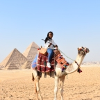 A Single Black lady on the streets of Cairo